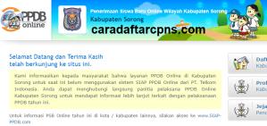 Jadwal PPDB SMA SMK Negeri Kab Sorong 2020 2021