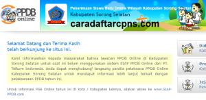 Pendaftaran PPDB Online SMA Kabupaten Sorong Selatan 2019 2020