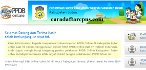 Jadwal PPDB SMA SMK Negeri Kab Buton 2020 2021