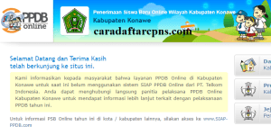 Jadwal PPDB SMA SMK Negeri Kab Konawe 2020 2021