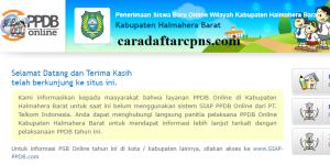 PPDB SMP Kabupaten Halmahera Barat