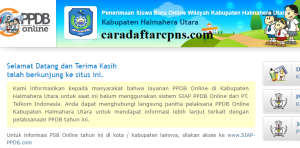 PPDB SMP Kabupaten Halmahera Utara