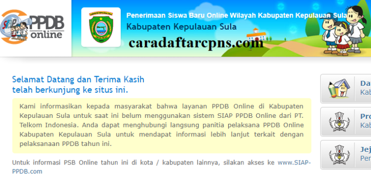 Ppdb Smp Kabupaten Kepulauan Sula Syarat Jadwal Pendaftaran Sd