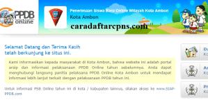 Jadwal Pendaftaran PPDB SMA 2020/2021 Kota Ambon