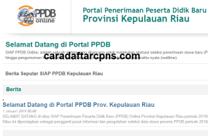 Pendaftaran PPDB Online SMA Provinsi Kepulauan Riau 2019 2020