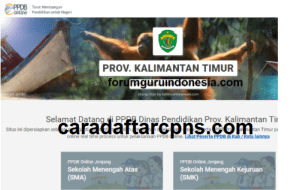 Pengumuman Hasil Seleksi PPDB SMA SMK Negeri Provinsi Kalimantan Timur 2020/2021