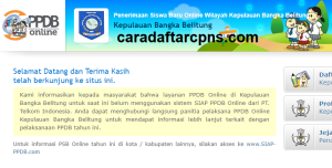 Pendaftaran PPDB Online SMA Provinsi Kepulauan Bangka Belitung 2019 2020