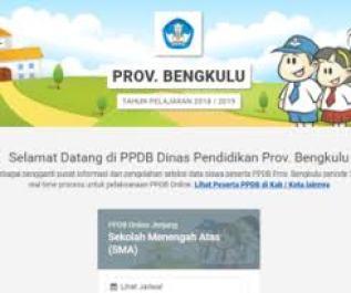 Jadwal Pendaftaran PPDB SMA SMK Negeri Provinsi Bengkulu 2021