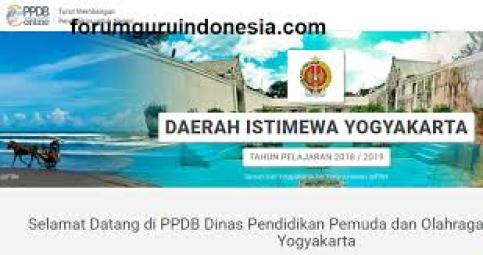 Jadwal Pendaftaran PPDB SMA SMK Negeri Provinsi Yogyakarta 2021