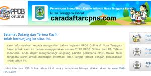 Pendaftaran PPDB Online SMA Provinsi Nusa Tenggara Barat 2019 2020