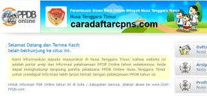 Pendaftaran PPDB Online SMA Provinsi Nusa Tenggara Timur 2019 2020