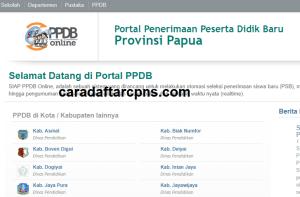 Pengumuman Hasil Seleksi PPDB SMA SMK Negeri Provinsi Papua 2020/2021