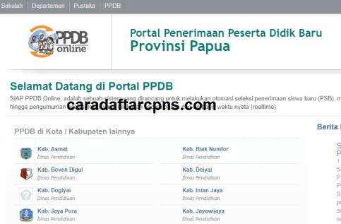 Jadwal Pendaftaran PPDB SMA SMK Negeri Provinsi Papua 2021