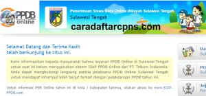 Pengumuman Hasil Seleksi PPDB SMA SMK Negeri Provinsi Sulawesi Tengah 2020/2021