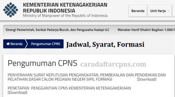 Jadwal dan syarat pendaftaran CPNS Kemnaker 2021