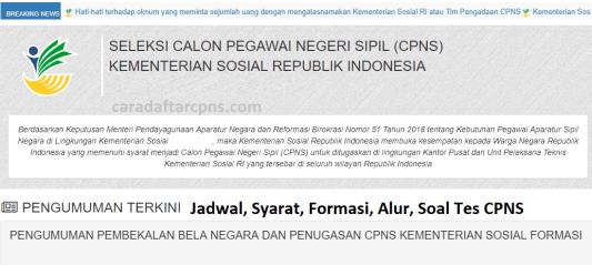 Hasil Seleksi Administrasi CPNS Kemensos 2021