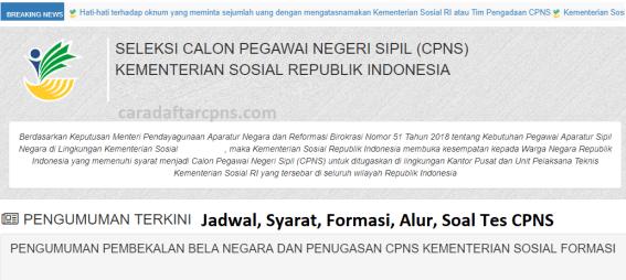 Jadwal dan syarat pendaftaran CPNS Kemensos 2021