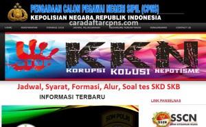 Pengumuman Hasil SKB CPNS Polri Formasi 2019