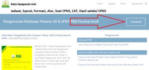 Jadwal Pendaftaran CPNS Pemprov Aceh 2021 Lulusan SMA SMK D3 S1 S2