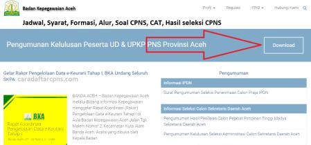 Jadwal Pendaftaran Cpns Pemprov Aceh 2021 Lulusan Sma Smk D3 S1 S2 Soal Skd Skb Pdf Terbaru