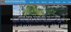 Jadwal Pendaftaran CPNS Pemprov Kalsel 2021 Lulusan SMA SMK D3 S1 S2