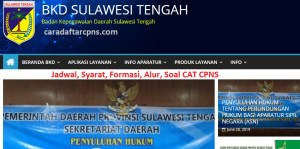 Jadwal Pendaftaran CPNS Pemprov Sulteng 2021 Lulusan SMA SMK D3 S1 S2