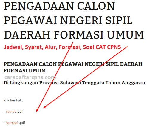 Hasil Seleksi Administrasi CPNS Pemprov Sultra 2021