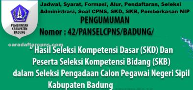 Pengumuman Hasil SKD CPNS KABUPATEN BADUNG 2021