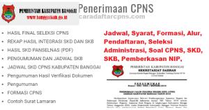 Pengumuman Hasil Seleksi Administrasi CPNS Kab Banggai 2019