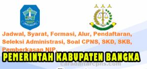 Pengumuman CPNS Kabupaten Bangka 2021 Lulusan SMA SMK D3 S1 S2
