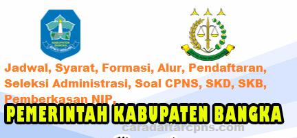 Pengumuman Hasil SKD CPNS KABUPATEN BANGKA 2021