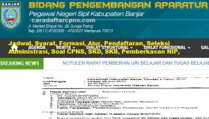 Pengumuman CPNS Kabupaten Banjar 2021 Lulusan SMA SMK D3 S1 S2