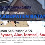 Pengumuman Hasil SKD CPNS KABUPATEN BATANG 2021