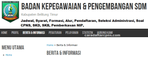 CPNS 2019 Kabupaten Belitung Timur