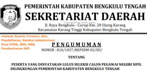 Jadwal SKB CPNS Kabupaten Bengkulu 2019 2020