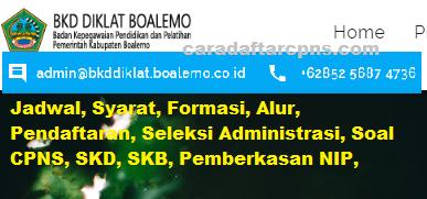 Pengumuman CPNS Kabupaten Boalemo 2021 Lulusan SMA SMK D3 S1 S2