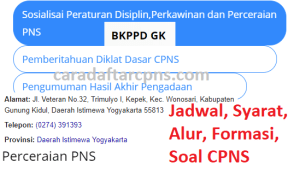 Jadwal SKB CPNS Kabupaten Gunungkidul 2019 2020