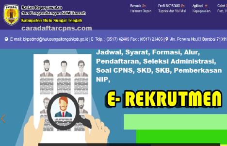 Pengumuman CPNS Kabupaten Hulu Sungai Tengah 2021 Lulusan SMA SMK D3 S1 S2
