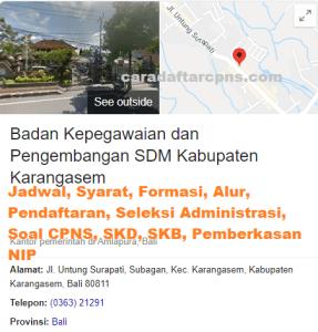 Pengumuman Hasil SKB CPNS Kabupaten Karangasem Formasi 2019