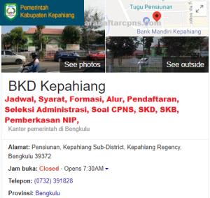 Pengumuman Hasil SKB CPNS Kabupaten Kepahiang Formasi 2019