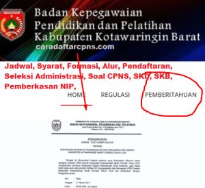 Pengumuman Hasil Seleksi Administrasi CPNS Kab Kotawaringin 2019