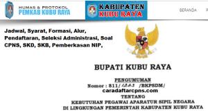 Pengumuman Hasil SKB CPNS Kabupaten Kubu Raya Formasi 2019