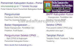 Pengumuman Hasil SKB CPNS Kabupaten Kudus Formasi 2019