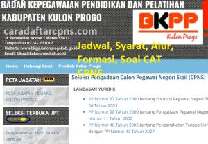 Jadwal Pendaftaran CPNS Kabupaten Kulon Progo 2021 Lulusan SMA SMK D3 S1 S2