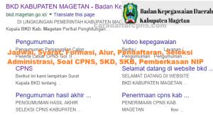 CPNS 2019 Kab Magetan
