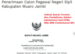 Jadwal SKB CPNS Kabupaten Muaro Jambi 2019 2020