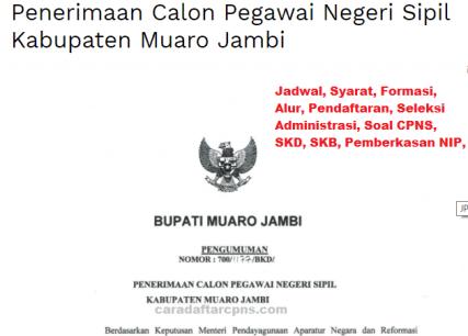Pengumuman CPNS Kabupaten Muaro Jambi 2021 Lulusan SMA SMK D3 S1 S2