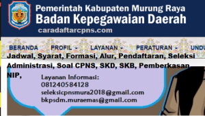 Pengumuman CPNS Kabupaten Murung Raya 2021 Lulusan SMA SMK D3 S1 S2