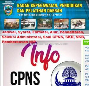 CPNS 2019 Kab Pacitan