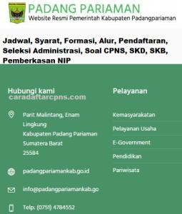 Pengumuman CPNS Kabupaten Padang Pariaman 2021 Lulusan SMA SMK D3 S1 S2